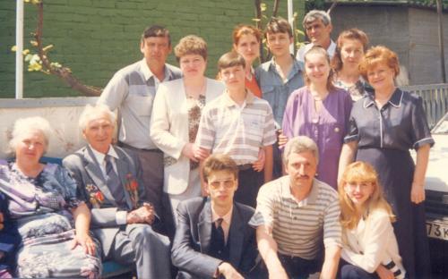 Морев Борис Михайлович с внуками и детьми 1998 год